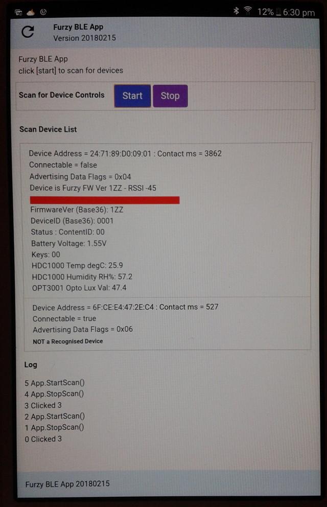 Ble Devices List